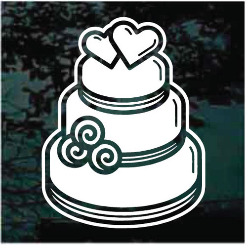 Decorated Wedding Cake Decals