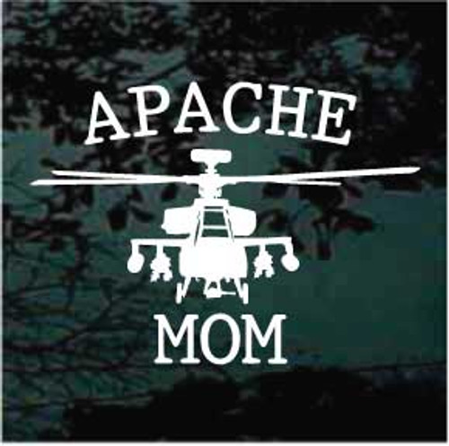 Apache Helicopter Apache Mom Decals