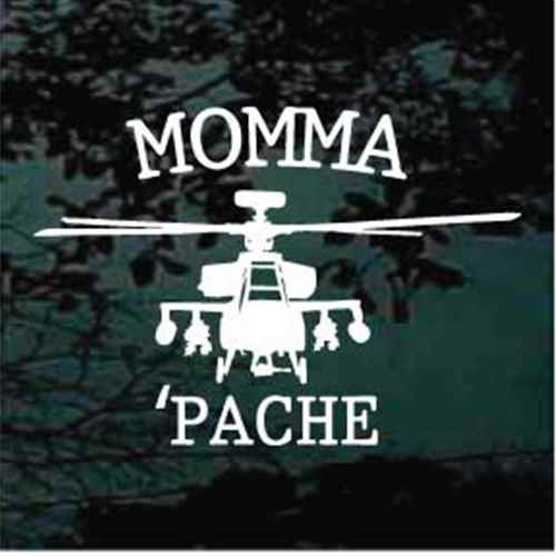 Apache Helicopter Momma 'Pache Decals