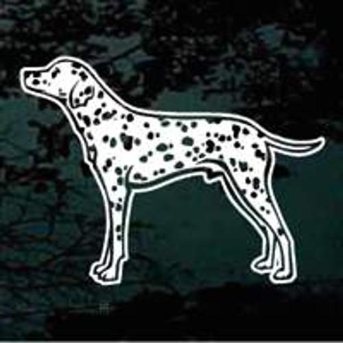 Dalmatian Standing Window Decal