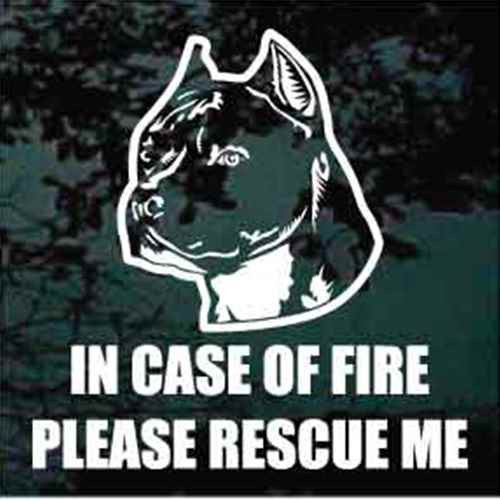 Fire Rescue Amstaff Decal