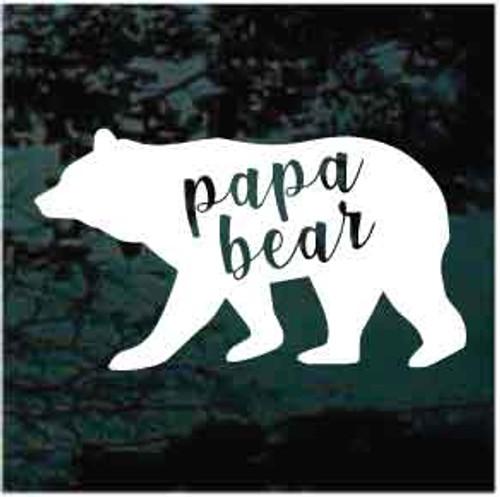 Papa Bear Window Decal