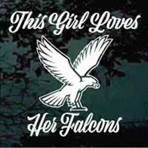 This Girl Loves Her Falcons Window Decal