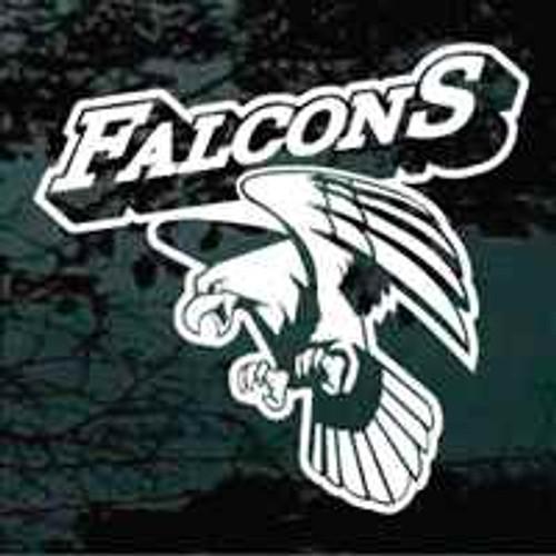 Falcon Mascot Team Window Decals