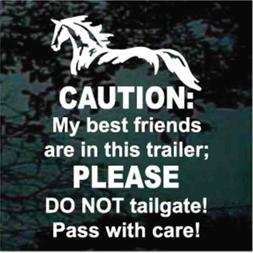 Horse Trailer Caution Sign