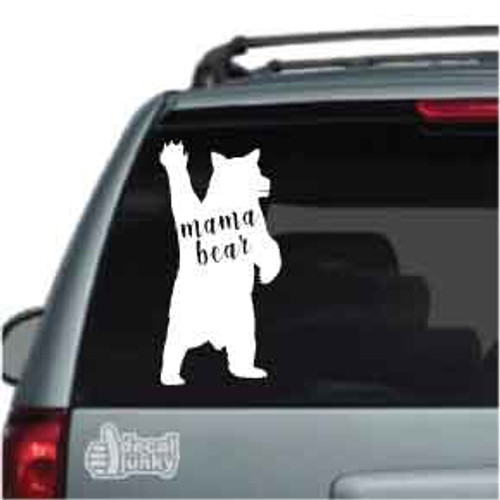 Mama Bear Waving Car Decal