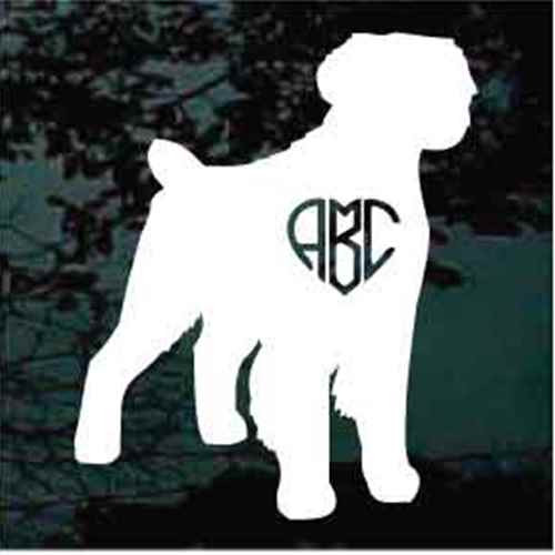 Brittany Spaniel Heart Monogram Window Decal