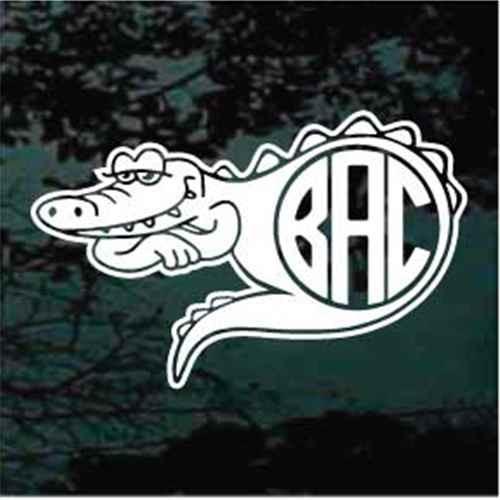 Alligator Monogram Window Decals