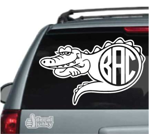 Alligator Monogram Car Decals