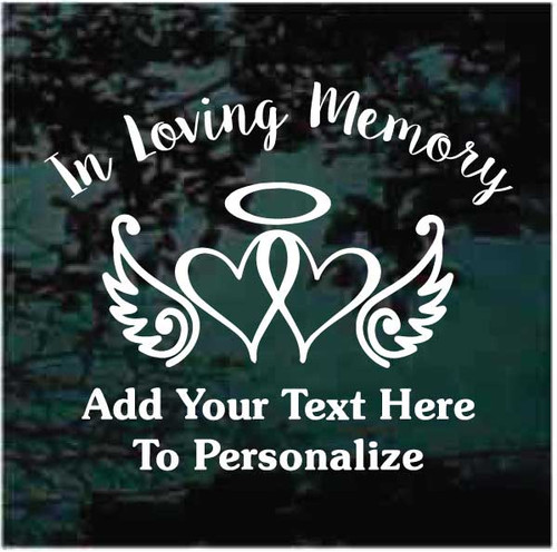 Awareness Ribbon Hearts Memorial Window Decals