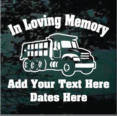 Dump Truck Memorial Decals