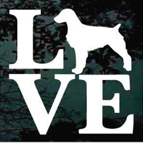 Brittany Spaniel Love Window Decal