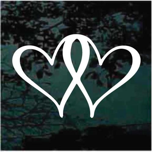 Heart Awareness Ribbon Decals