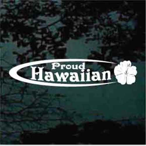 Proud Hawaiian Oval With Hibiscus Flower