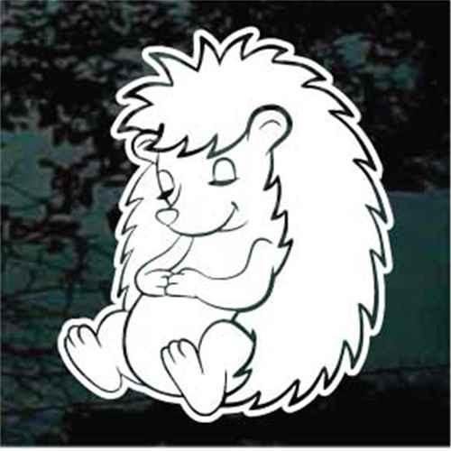 Sleeping Hedgehog Car Window Decals Stickers