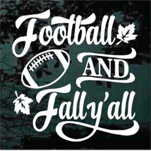 Football & Fall Y'all Decals