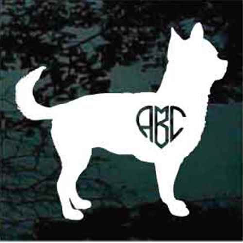 Chihuahua Monogram Window Decal