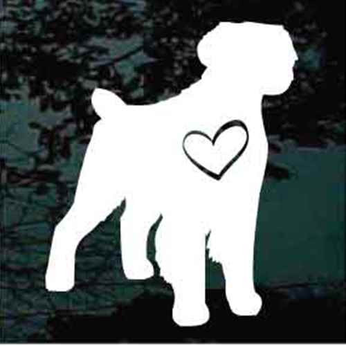 Brittany Spaniel Heart Window Decal