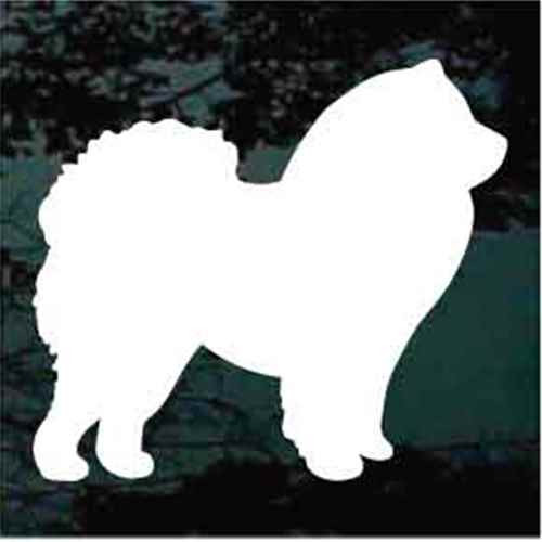 Chow Silhouette Window Decal