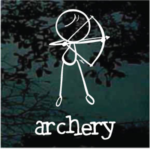 Stick Figure Archery Window Decals