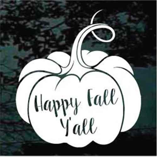 Happy Fall Y'all Pumpkin