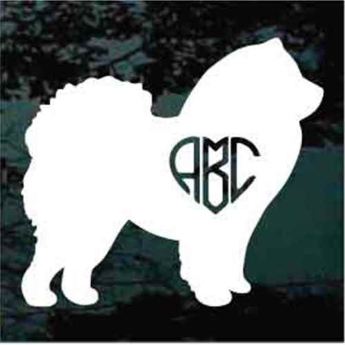 Chow Monogram Window Decal
