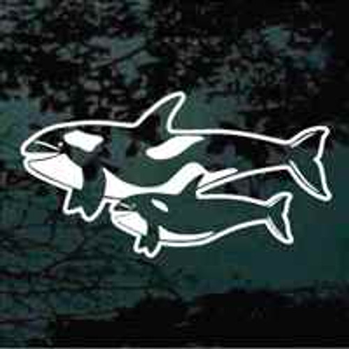 Mother & Calf Whale Window Decals