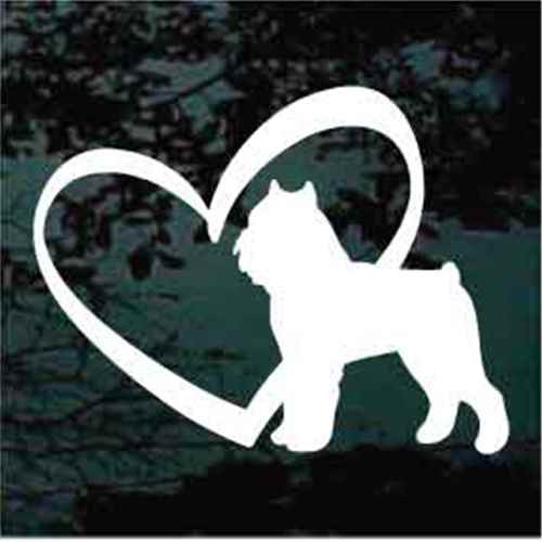 Brussels Griffon Inside Heart Window Decal