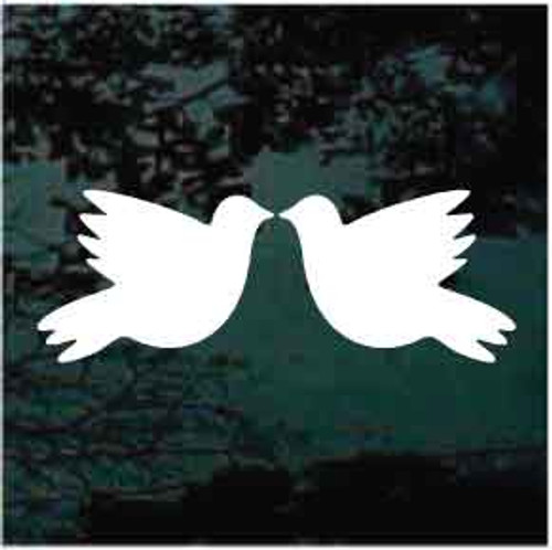 Pair Of Wedding Doves Window Decal