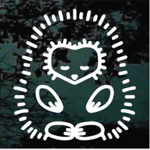 Hedgehog Image Window Decals