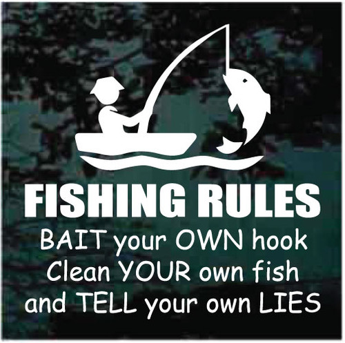Fishing Rules Decals