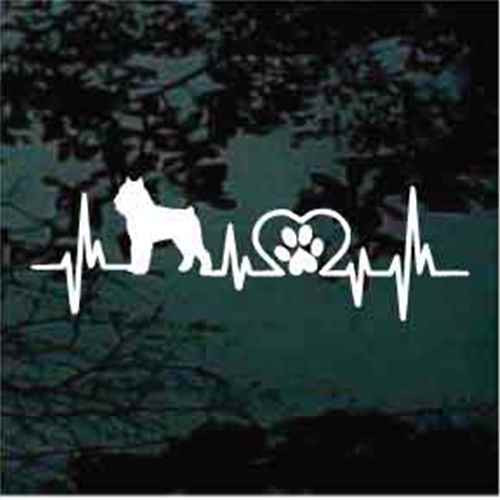 Brussels Griffon Heartbeat Window Decal