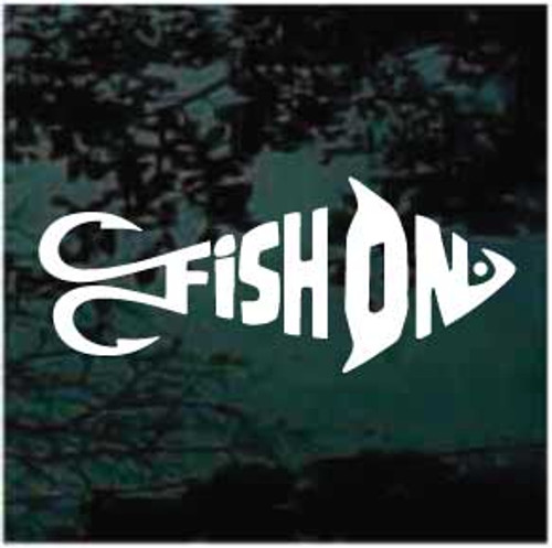 Fish On Fish With Fish Hooks Decals