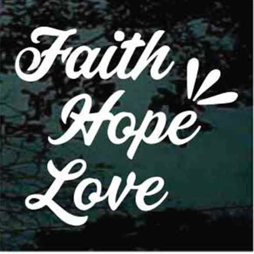 Script Text Faith Hope Love