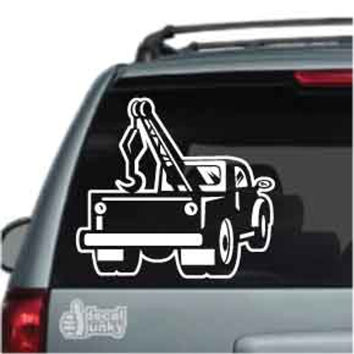 Vintage Tow Truck Car Decal