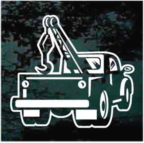 Vintage Tow Truck Window Decal