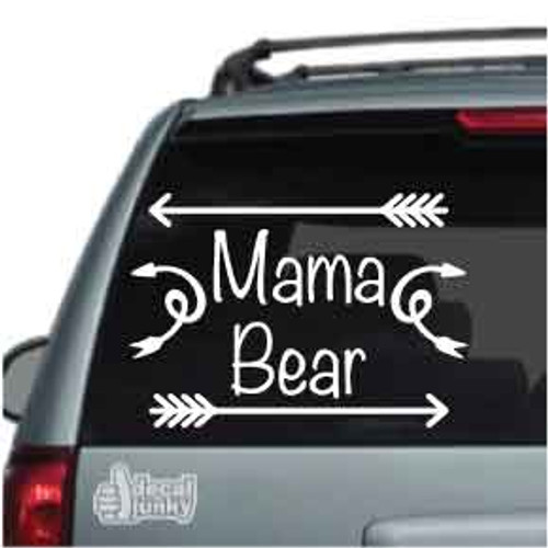 Mama Bear With Arrows Car Decal