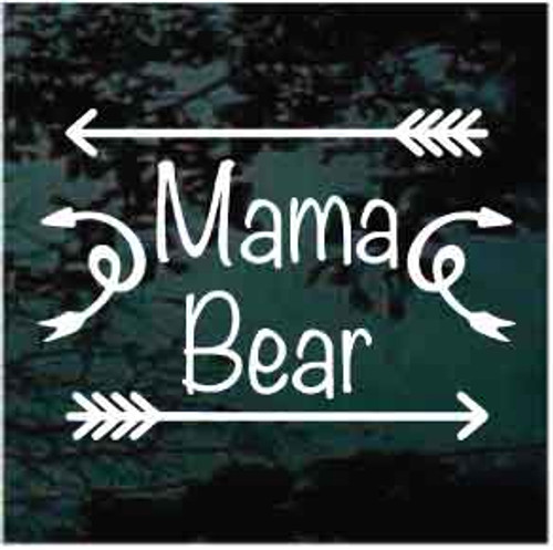 Mama Bear With Arrows Window Decal