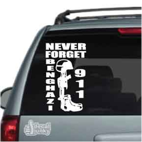 Never Forget Benghazi 911 Soldier M16 Car Decals