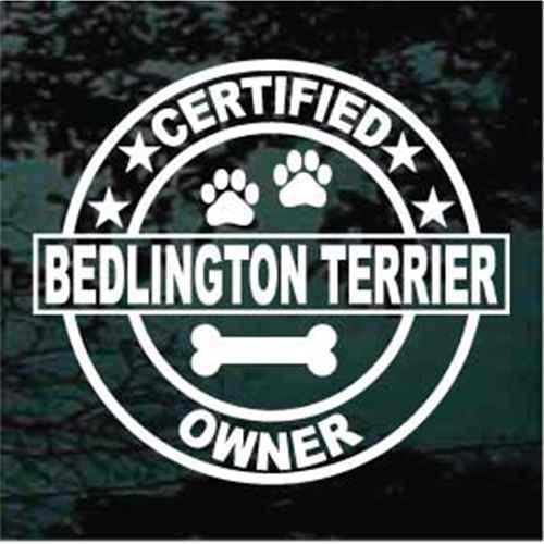 Certified Bedlington Terrier Owner Window Decal
