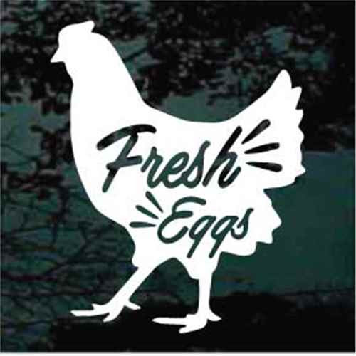 Fresh Eggs Hen Window Decal