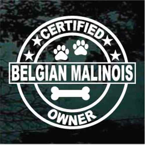 Certified Belgian Malinois Owner Window Decal