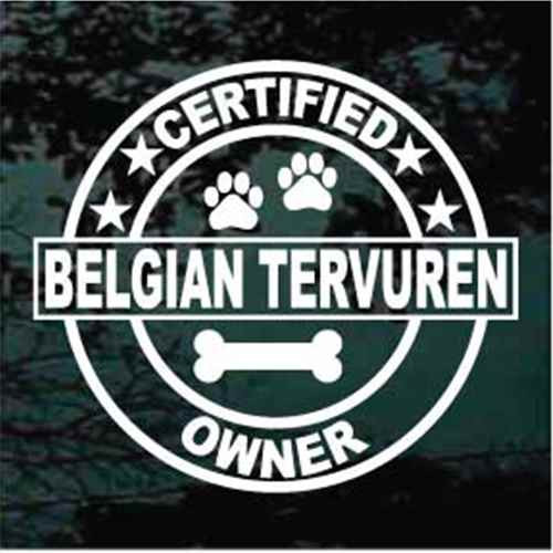 Certified Belgian Tervuren Owner Window Decal