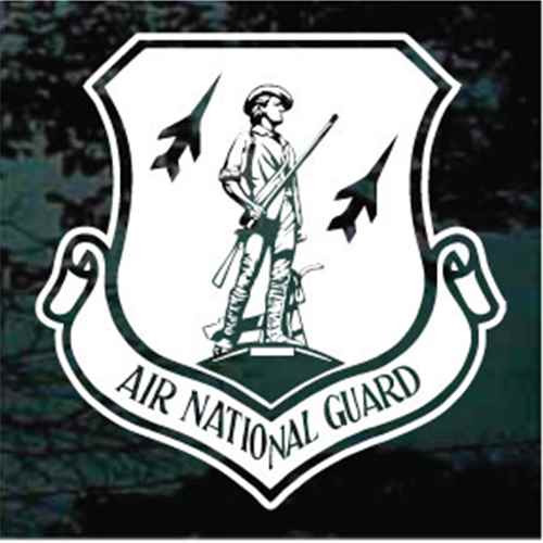 Air National Guard Shield Window Decals