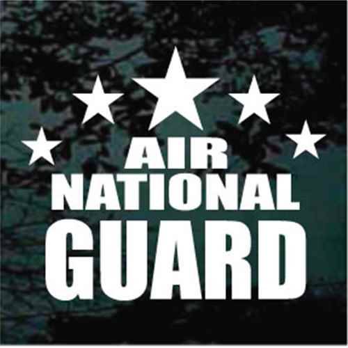 Air National Guard Stars Window Decals