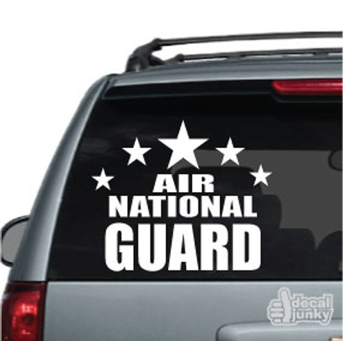 Air National Guard Stars Car Decals