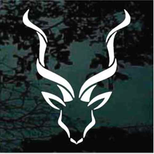 Decorative Antelope Head Window Decal