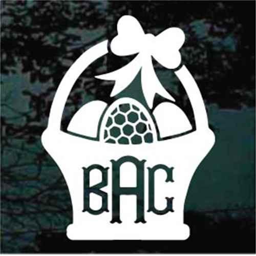 Easter Basket Monogram Decals