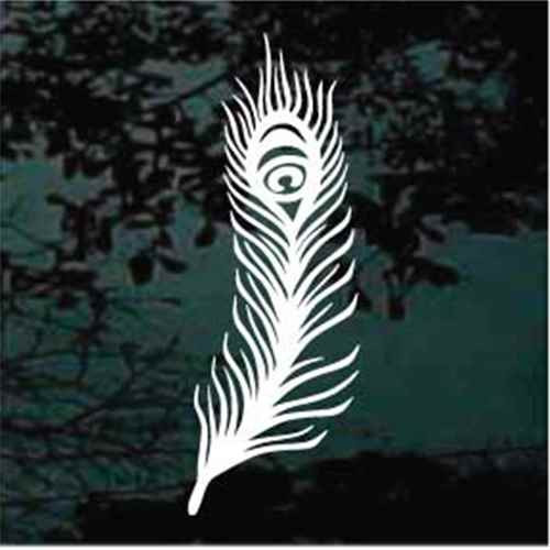 Decorative Peacock Feather Decals