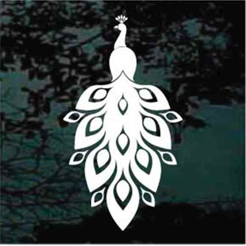 Peacock Ornament Decals